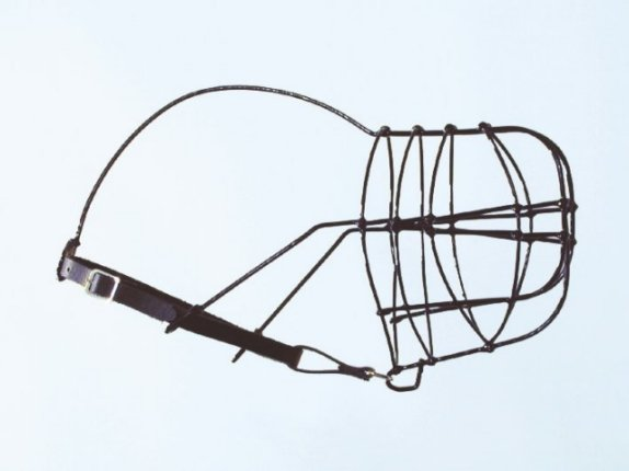 KOŠÍK drát-plast greyhound- muzzle plastic coated wire