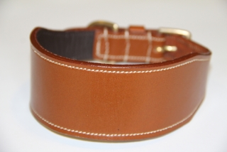 OBOJEK kožený - COLLAR leather greyhound
